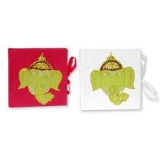 Set of 2 Tiny Journals, Elephants